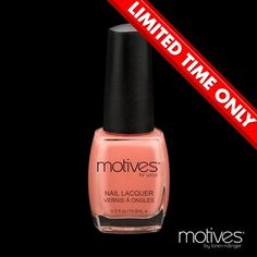 Motives® Nail Lacquer in I'm peachy, what a gorgeous shade of pinky peach!