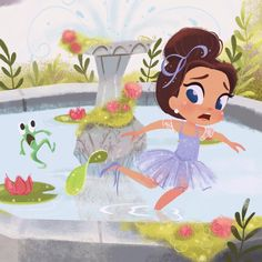 Tutu Tuesday A vignette peek from 'Brianna Bright, Ballerina Knight' children's book coming out 2017. Written by Pam Calvert and illustrated by me. #AmazonPublishing #PamCalvert