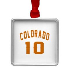#Colorado 10 Birthday Designs Metal Ornament - #giftidea #gift #present #idea #10th #tenth #bday #birthday #10thbirthday #party #teen