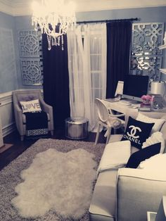 Have a glamorous young adult? Deck out her room with Chanel and faux furs for a chic and high fashion décor.