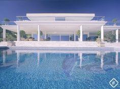 Villa espectacular de estilo contemporáneo de 7 dormitorios en venta en Cascada de Camoján, Marbella, con vistas panorámicas del mar