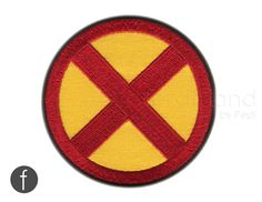 "x-men emblem Iron On Patch 3.35"" by FerdinandWorks on Etsy https://www.etsy.com/listing/183949169/x-men-emblem-iron-on-patch-335"