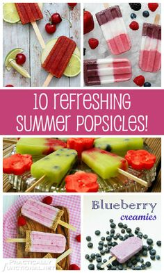 10 Cool Refreshing Summer Popsicle Recipes! | Practically Functional