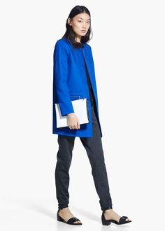 Minimal pockets coat
