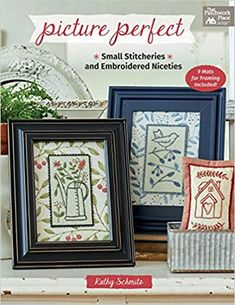 Picture Perfect: Small Stitcheries and Embroidered Niceties: Schmitz, Kathy: 9781683560401: Amazon.com: Books Chalkboard Doodles, Quilt Binding, Star Quilts, Mini Quilts, Baby Quilts, Quilt Blocks, Paint Background, Book Quilt, Watercolor Design