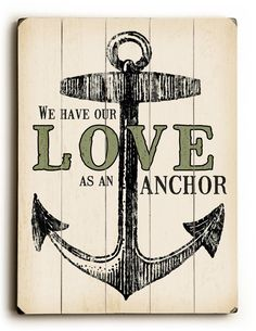 Love as An Anchor Textual Art
