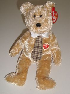 Ty Beanie Babies DAD-E dob June 15 2003 MWMT Mint Retired Fathers Day Bear 2002 #Ty