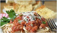 Slow Cooker Ground Turkey Pasta Sauce