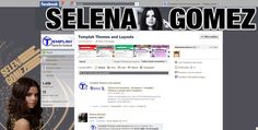 Theme for Facebook With Selena Gomez