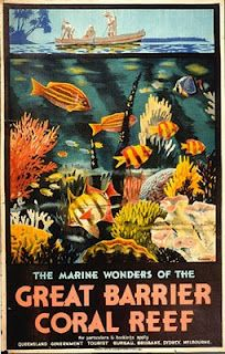 Great Barrier Reef Australia ~ Vintage Travel Poster Would love to frame this and hang it