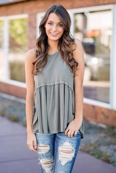 Count Down the Seconds Till This Stunning Olive POL Top Arrives at your door. $32 Buy Now!