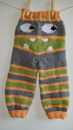 Specialty colors BABY Knit Monster Pants Knit by TreasuresUltd