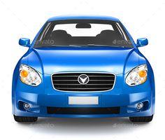 Blue Sedan Car by Rawpixel. Blue Sedan Car