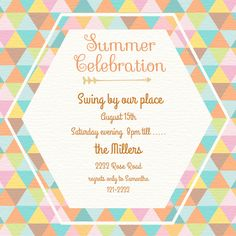Summer Celebration Kaleidoscope  designed by Two Branching Out on Celebrations.com
