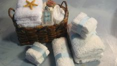 Doll house how to fold and glue towels from baby wash cloths