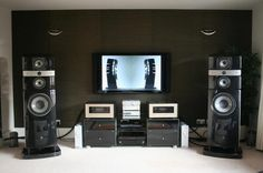 hi fi audio speakers Audiophile Speakers, Hifi Audio, Hi Fi System, Audio System, Radios, Fi Car Audio, Muebles Home, Sound Room, Audio Engineer