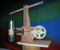 The Stirling engine in this instructable is the simplest, safest engine I've found. It's a nice size, very sturdy, fairly cheap (if you have access to the tools) and makes a good project for learning to use tools and how physical concepts can be put to everyday uses. The text of these instructions are also available on Google Drive athttps://docs.google.com/file/d/0B_yXLsNjezyeXzVmSGc0QVZ6LVE/edit?usp=sharing Below is a very brief introductory video. A more detailed overview of t...
