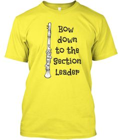 Clarinet-Bow Down to the Section Leader