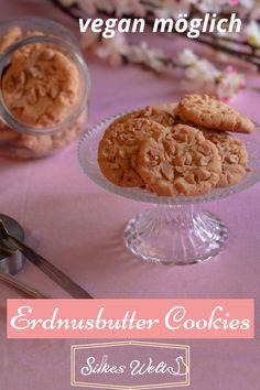 Einfache Erdnussbutter Cookies sind einmalig im Geschmack und super einfach in der Herstellung. Diese Cookies kannst Du auch vegan herstellen. Ich zeige Dir wie einfach das geht. Schau Dir dieses leckere Rezept an. #silkeswelt #vegan #Plätzchen