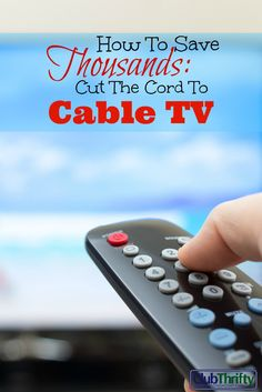 Saving money is difficult. Make it easier by cutting out unnecessary expenses. Cut the cord to you cable or satellite TV and save hundreds a month.