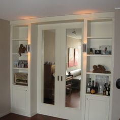 Home, Living Room Cabinets, Home Remodeling, Sliding Doors Interior, Living Room Cupboards, Doors Interior, House Interior, Home Interior Design, Interior Design