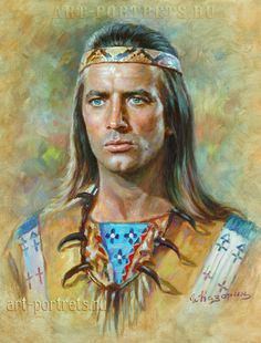 Portrait Painting of a French actor Pierre Brice Native American Actors, Oil Painting Lessons, Western Film, Celebrity Portraits, Le Far West, Fantasy Illustration, Native Art, Illustrations And Posters, Portrait Art