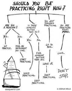 Should You Be Practicing?  Hahahaha Hangin' this one outside the band room next year!