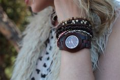 wooden watch, tree planted for each one sold! #ecochic #sustainablefashion