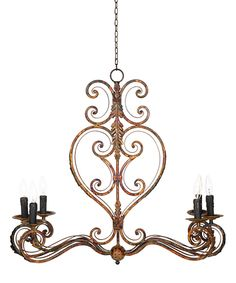 Look at this Scroll Rustico Chandelier on #zulily today!