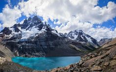 Download wallpapers Andes, lake, Andean Mountains, summer, South America