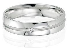 Bague de mariage pour Femme, avec Diamant