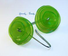 plastic bottle earrings by Alia
