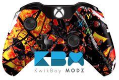 Wildfire Camouflage Xbox One Controller - KwikBoy Modz | Custom Controllers & Mods