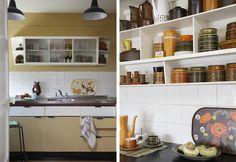 Hannah Cork Interior Design Hygena kitchen retro 60's Interior Stylist, Interior Design, Kitchen Retro, Cork, Mid-century Modern, Nostalgia, Kitchen Cabinets, Mid Century, Interiors