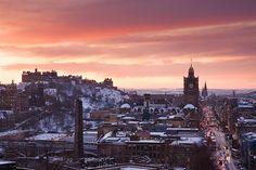 Edinburgh - A Snowy Sunset