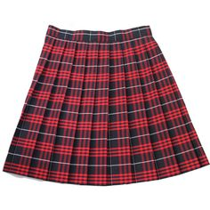 School Uniform Girls' Plaid Knife Pleat Skirt (€29) ❤ liked on Polyvore featuring skirts, bottoms, red and school