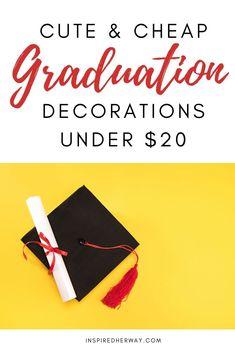 graduation decorations ideas under $20 Graduation Balloons, Graduation Decorations, Graduation Photos, Advice For The Graduate, College Gifts, Graduation Celebration, Photo Banner, Gift Table, School Photos