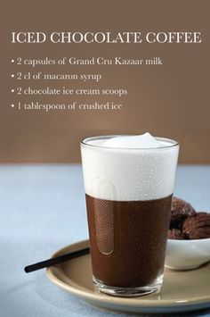 Iced Chocolate Coffee | When two scoops of ice cream are an ingredient in the Nespresso recipe, you know this dessert drink has to be good.