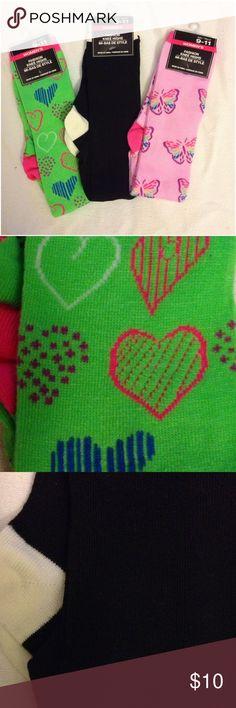 🌴NEW LISTING🌴 Bundle 3 Women Knee-Hi Socks Multi color and style. Size 9-11. (11/8) Accessories Hosiery & Socks