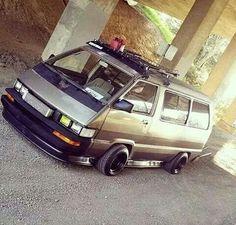 Toyota Van, Van Home, Cool Vans, Toyota Camry, Jdm Cars, Old School, Trucks, Buses, Camper