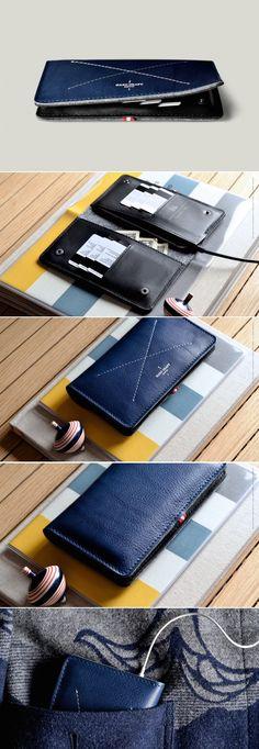 #hardgraft Mighty Phone Fold Wallet / Ocean