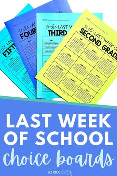 Keeping students engaged during the last week of school is a daunting task! Why not make the work fun for your students, yet as easy for you as possible? This resource contains one editable choice board for each grade level: 2nd, 3rd, 4th, and 5th. 9 unique activities were designed to engage your students while also reinforcing skills learned throughout the school year. Printable and digital options to serve your students best during the last day or week of school! School Choice, End Of School Year, Classroom Supplies, Classroom Activities, Choice Boards, First Grade Classroom, Reading Passages, School Lessons, Fun At Work