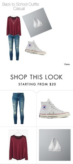 """Back to School Outfits"" by velasquezn99 on Polyvore featuring MICHAEL Michael Kors, Converse, Madewell, Abercrombie & Fitch, Michael Kors and b2s"