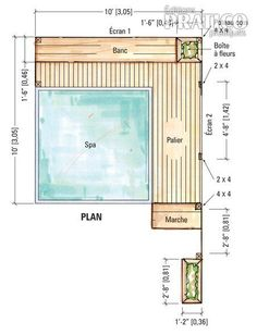 Plans pour créer un écran près d'un spa - Plans et patrons - Jardinage et extérieur - Pratico Pratique