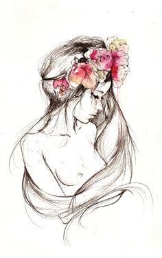 flower crown illustration by Dessie Jackson