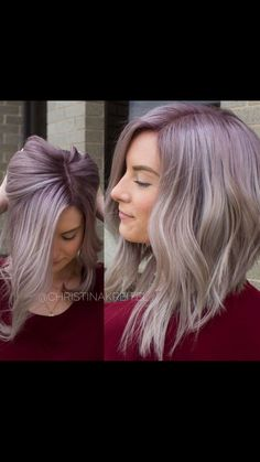 Pastel Purple Peek A Boo Hair Color Hair Pinterest