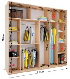 Is your closet overflowing? Here are closet storage ideas to help you gain more control over your closet space.Decor Units: Modern Ideas Of Arrange and Design The Wardrobes and ClosetsStandard Wardrobe Closet Design Guidelines on ArchisherePractical Wardrobe Design Bedroom, Bedroom Wardrobe, Wardrobe Closet, Built In Wardrobe, Closet Space, Bedroom Cupboard Designs, Bedroom Cupboards, Walk In Closet Design, Closet Designs