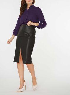 Womens Purple Tab Roll Sleeve Shirt- Purple