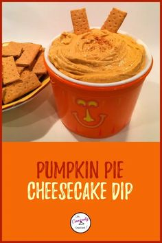 Easy pumpkin pie cheescake dip - LIFE, CREATIVELY ORGANIZED Looking for an awesome dip for your Halloween party?  Try this delectable and easy pumpkin pie cheesecake dip.  Serve it with graham crackers or apple slices and it will be sure to be a hit with all the ghouls and guys at your party! pumpkin pie | pumpkin spice | pumpkin cheesecake | pumpkin recipes | pumpkin dip