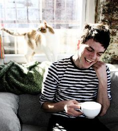 Nico Muhly. Simple stripes and of course coffee.